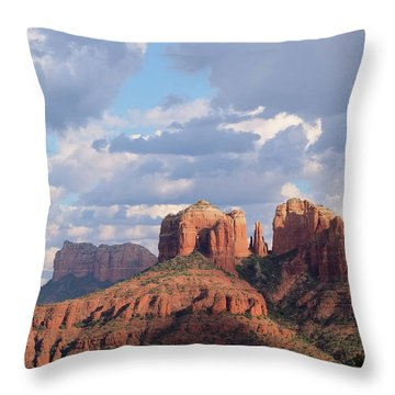 Throw Pillow featuring the photograph Changling Light - Cathedral Rock by Patricia Davidson