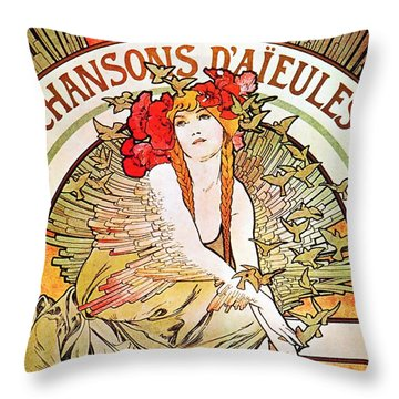 Chansons D'aieules Throw Pillow