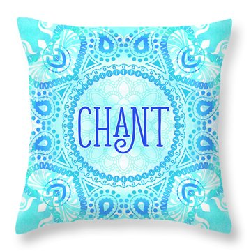 Throw Pillow featuring the digital art Chant by Tammy Wetzel