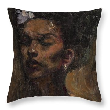 Chanteuse Throw Pillow