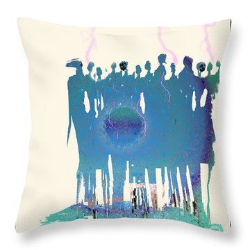 Women Chanting - Recharging The Earth Throw Pillow