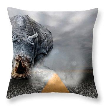 Throw Pillow featuring the digital art Chaos by Alex Grichenko