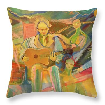 Throw Pillow featuring the painting Chaos And Redemption by John Keaton