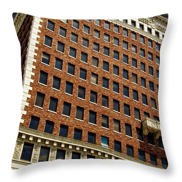 Chaos At The Federal Building Throw Pillow