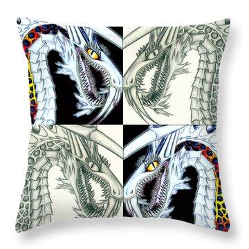 Chaos Dragon Fact Vs Fiction Throw Pillow