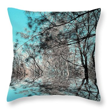 Throw Pillow featuring the photograph Chaos  by Elfriede Fulda