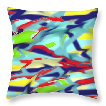Chaos Into Form Blue Throw Pillow