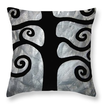 Chaos Tree Throw Pillow by Angelina Vick