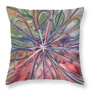 Chaotic Beauty Throw Pillow