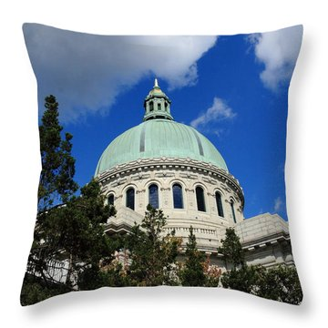 Chapel - Us Naval Academy 3 Throw Pillow