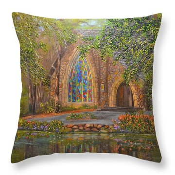 Chapel At Callaway Throw Pillow