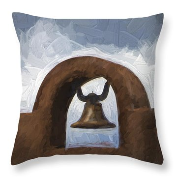 New Mexico Church Throw Pillows