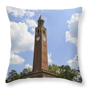 Chapel Hill Bell Tower Throw Pillow