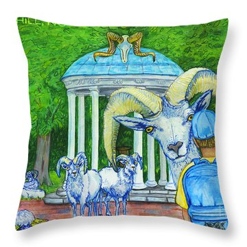 Chapel Hill Nc The Freshman Throw Pillow by Laura Brightwood