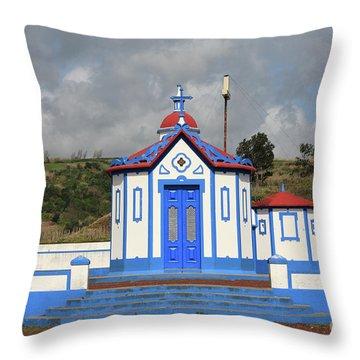 Chapel In Agua De Pau - Azores Throw Pillow by Gaspar Avila