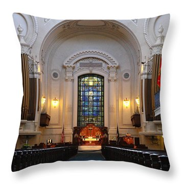 Chapel Interior - Us Naval Academy Throw Pillow