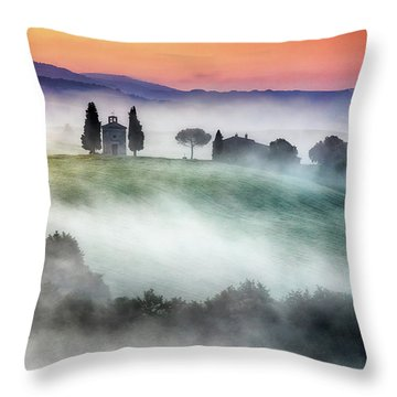 Chapel Of Our Lady Of Vitaleta Throw Pillow by Evgeni Dinev