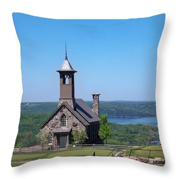 Chapel Of The Ozarks Throw Pillow by Julie Grace