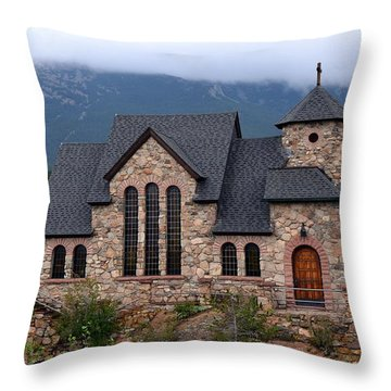 Throw Pillow featuring the photograph Chapel On The Rocks 2017 by Dorrene BrownButterfield