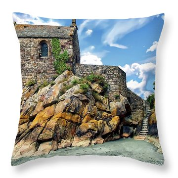 Chapel Saint-aubert Throw Pillow