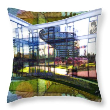Chaplin Ihn Strassburg Throw Pillow