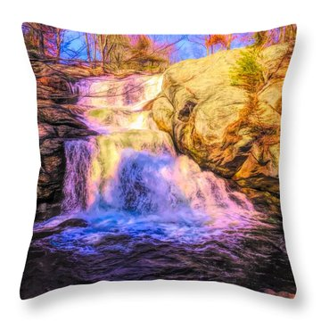 Chapman Falls Connecticut Throw Pillow