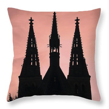 Chapter Church Of St Peter And Paul Throw Pillow by Michal Boubin