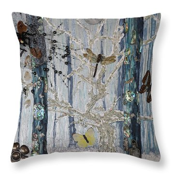 Chapter Green Is Collage Sold Throw Pillow