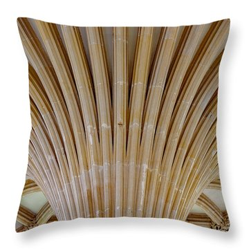 Chapter House Ceiling, Wells Cathedral. Throw Pillow