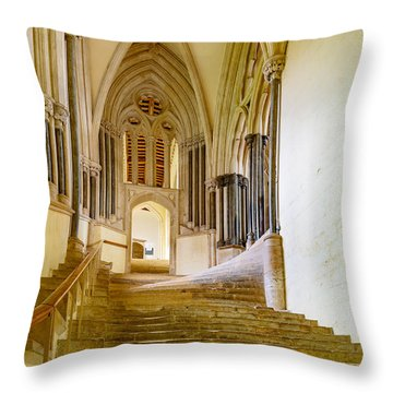 Chapter House, Wells Cathedral Throw Pillow