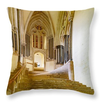 Throw Pillow featuring the photograph Chapter House, Wells Cathedral by Colin Rayner