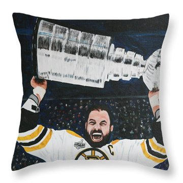 Chara And The Cup Throw Pillow by Betty-Anne McDonald