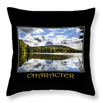 Character Inspirational Motivational Poster Art Throw Pillow by Christina Rollo