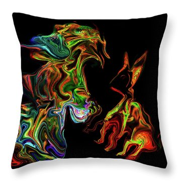 Character With Cat Throw Pillow