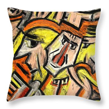Characters By Rafi Talby Throw Pillow by Rafi Talby