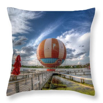 Characters In Flight Throw Pillow