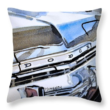 Charcoal Chrome And Blue Throw Pillow by Spencer Meagher