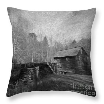 Charcoal Mill Throw Pillow