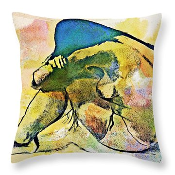 Charcoal Model #4 Throw Pillow