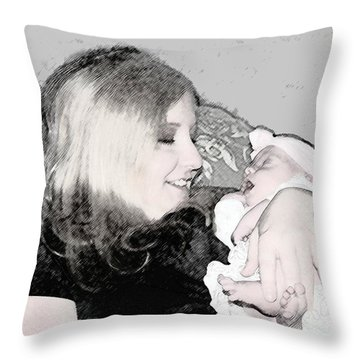 Charcoal Moment Throw Pillow