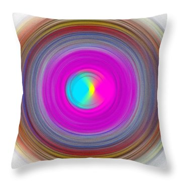 Charcoal Spiral Throw Pillow by Prakash Ghai
