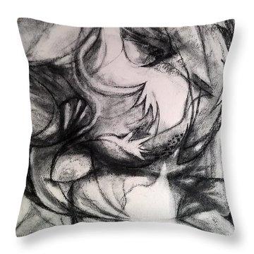 Charcoal Study Throw Pillow
