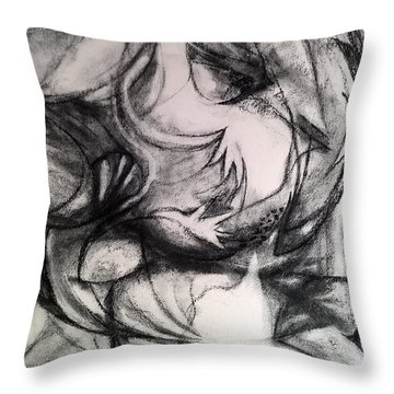 Charcoal Study Throw Pillow