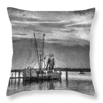 Charcoal Sunset Throw Pillow