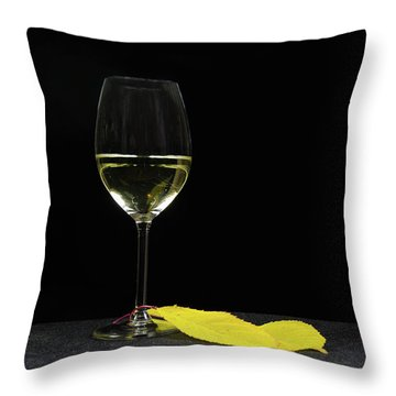 Throw Pillow featuring the photograph Chardonnay Time by Kennerth and Birgitta Kullman