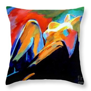 Charge Of The Soul Throw Pillow by Helena Wierzbicki