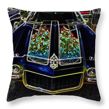 Charged Up Camaro Throw Pillow