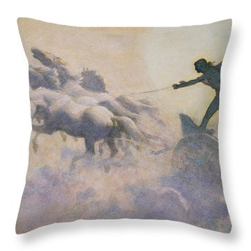Chariot Of The Sun Throw Pillow