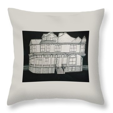 Charles A. Spies Historical Menominee Home. Throw Pillow