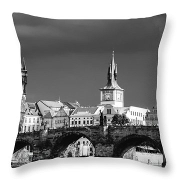 Charles Bridge Prague Czech Republic Throw Pillow